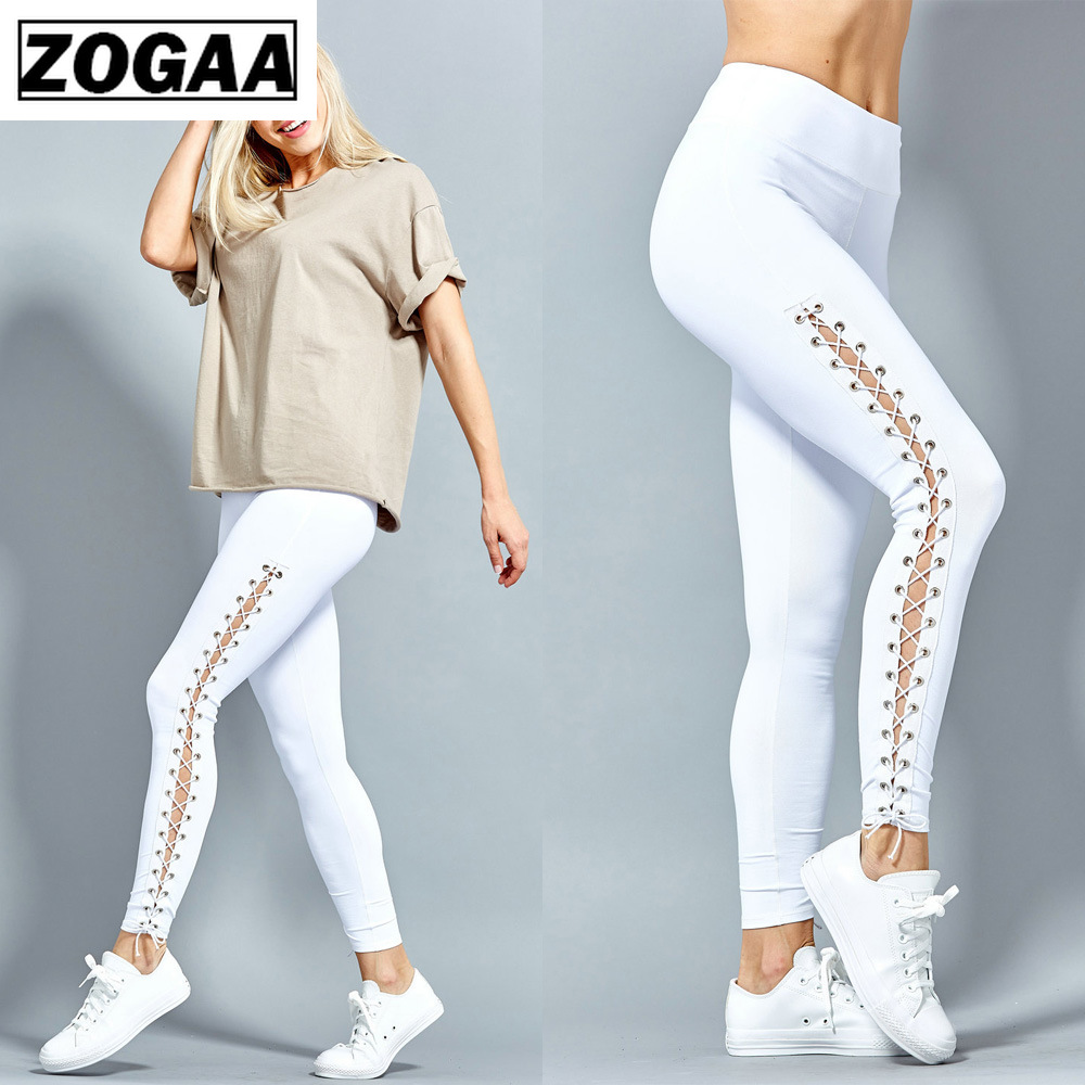 Sexy Black White Leggings  Women Fashion Sport Leggings Leggins Sport Women Fitness Pants Casual Ankle-Length Polyester Pant