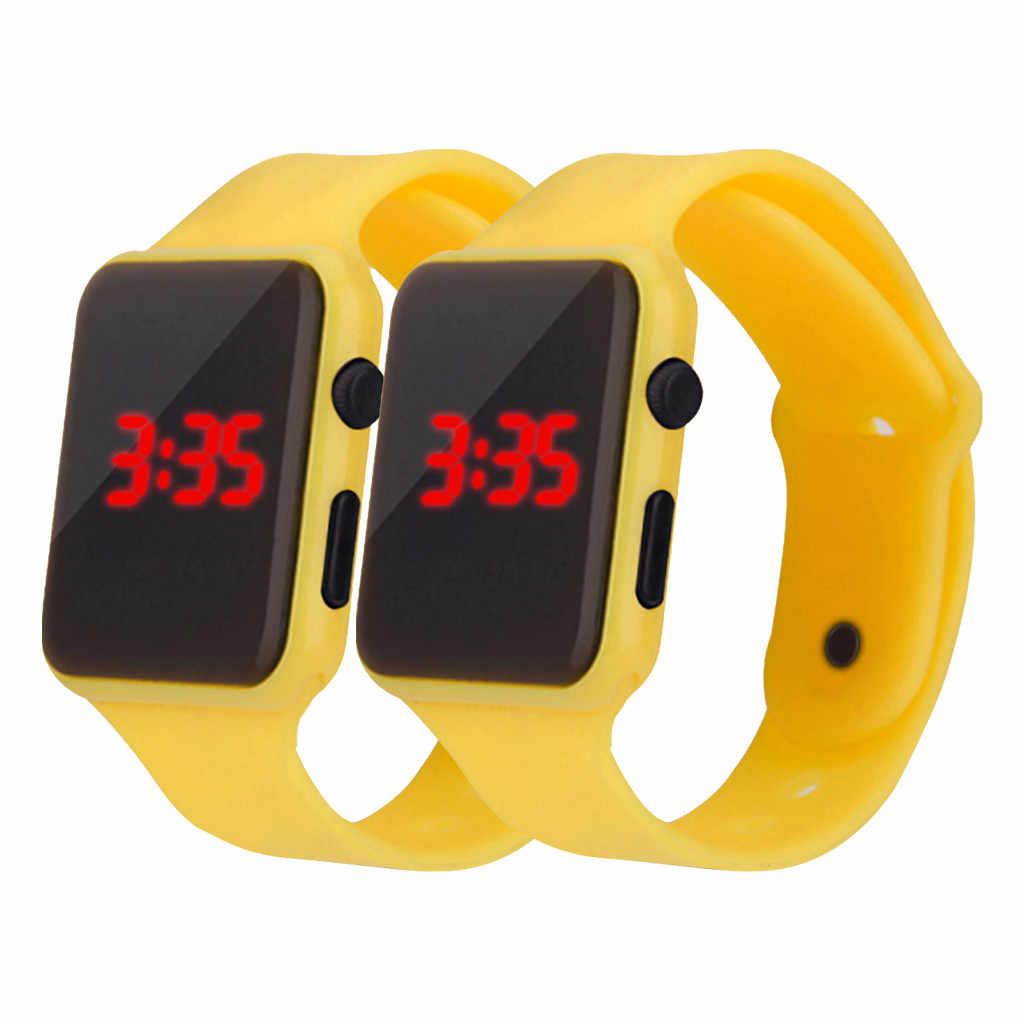 2 chiếc Thể Thao Thời Trang Đơn Giản LED Điện Tử Kỹ Thuật Số Đồng Hồ Nam Nữ Dây Đeo Silicone Đồng Hồ Đeo Tay Montre Reloj Đồng Hồ Relogio Đồng Hồ