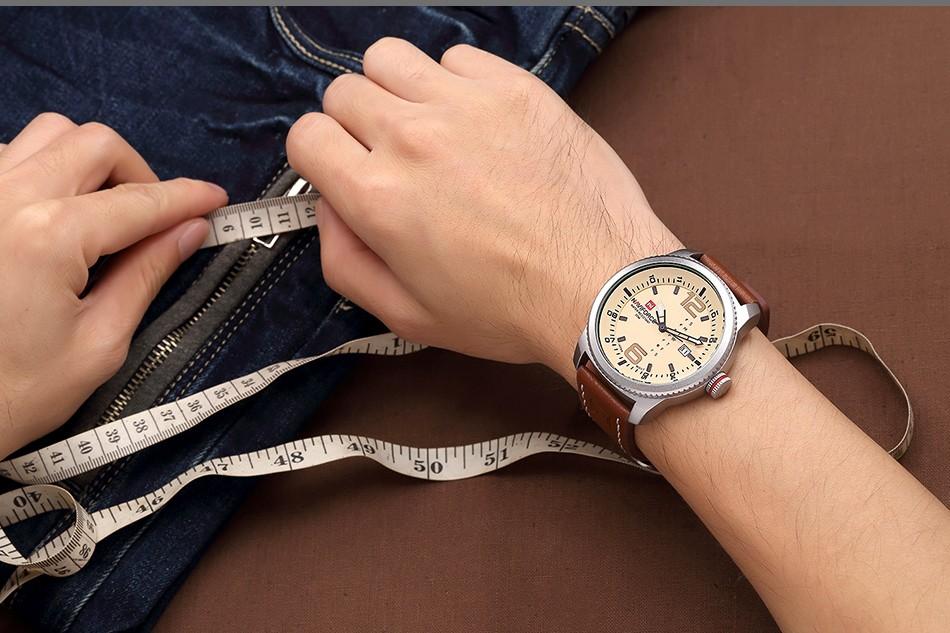 2017 De Luxe Marque NAVIFORCE Hommes Sport Militaire Montres Hommes de Quartz Date Horloge Homme En Cuir Décontractée Montre-Bracelet Relogio Masculino 10