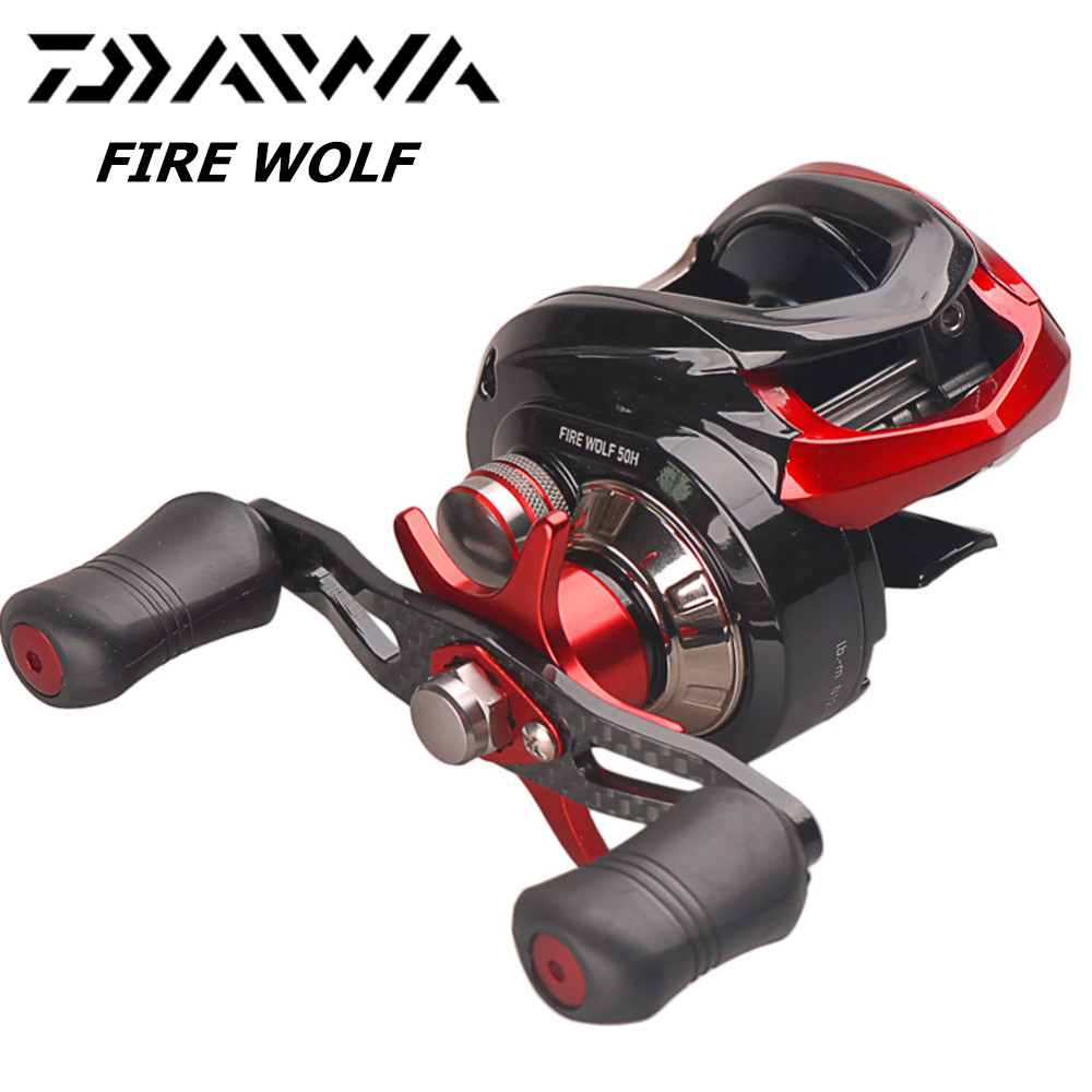 Original DAIWA FIRE WOLF 50H 50HL CS Bait Casting Fishing Reel 7.0:1/6BB/6KG Magforce 3D Break System Speed Shaft Moulinet Peche colts car floor mat set of 2 nfl
