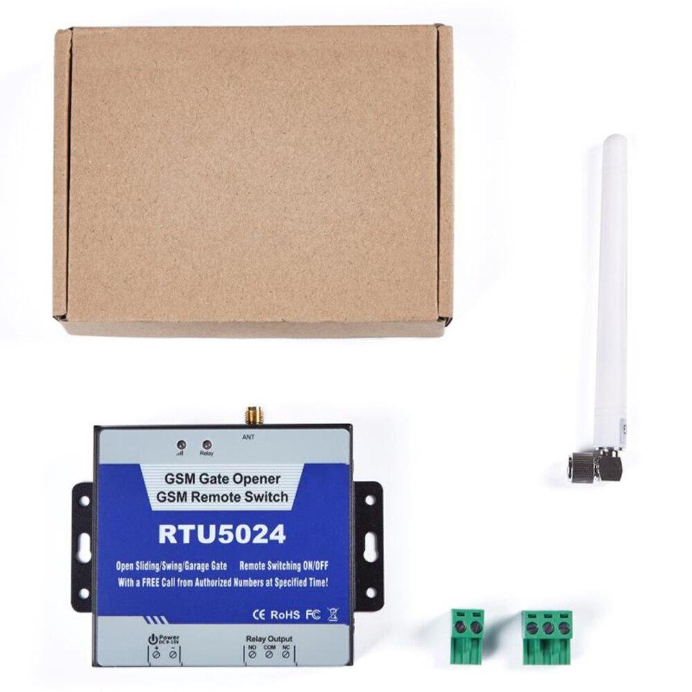 GSM Ouvreur de Porte Relais Commutateur de Contrôle D'accès À Distance Sans Fil Porte Ouvre Par Appel Gratuit Roi Pigeon RTU5024 - 6