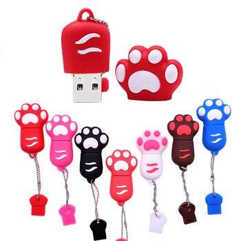 цена на Pen drive lovely Colorful Cat claw memory stick u disk 4GB 8GB 16GB 32GB 64GB pendrive Personalized gift usb flash drive cle usb