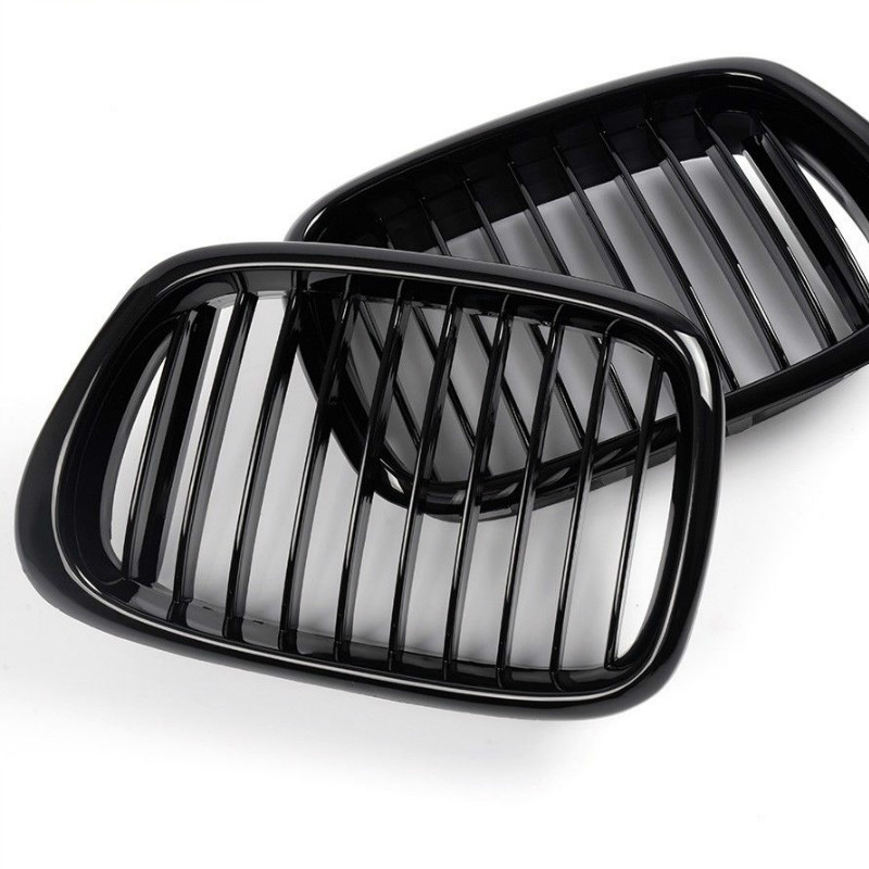 Front Glossy Black Grille Grill For 95-04 BMW E39 5-series 525 528 530 540 M5 KK