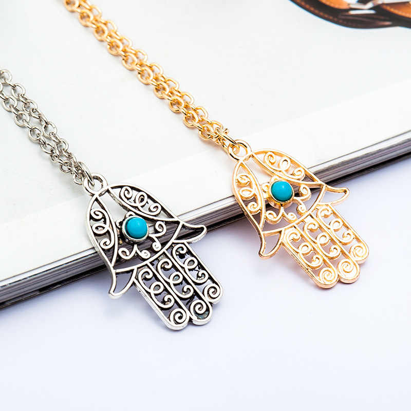 Novo vintage longo corrente arco gato coruja colares coração asa pena folha amor cristal clavícula pingente colar jóias para mulher