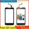 """Herramientas + 4.5 """"original del teléfono móvil de pantalla táctil digitalizador del sensor de cristal superior de la pantalla táctil del panel para lenovo a328 a328t highscreen"""
