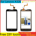 "Tools+4.5"" Original Mobile Phone Touch Screen Sensor Digitizer Glass Panel For Lenovo A328 A328T Top Touchscreen Highscreen"