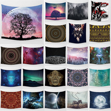 Unicorn psychedelic tapestry mandala moon wall hanging home decoration large rectangle bedroom