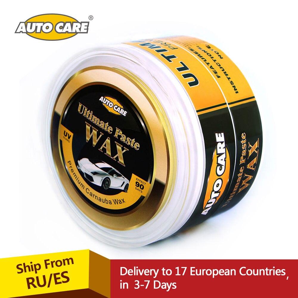 AutoCare Premium Carnauba Auto Wachs Kristall Hartwachs Farbe Pflege Kratz Reparatur Wartung Wachs Farbe Oberflächenbeschichtung Freie Schwamm