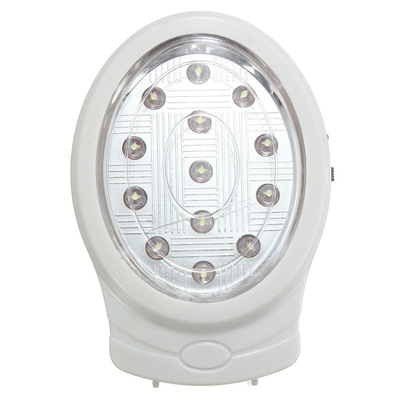 New Natural White 13 LED Rechargeable Home Wall Emergency Automatic Power Failure Outage Night Light Lamp 110~240V EU plug