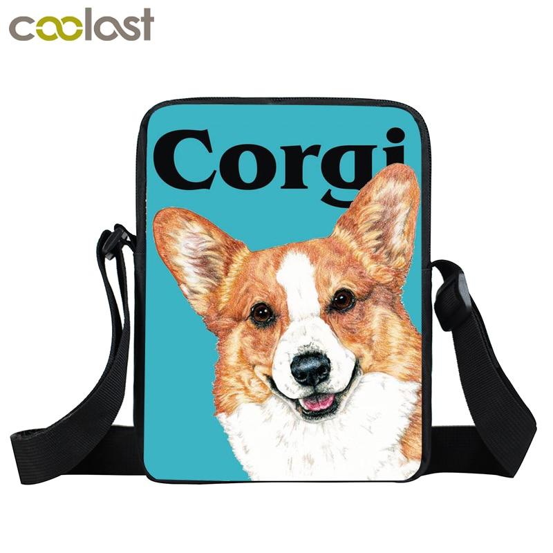 Cute Corgi Crossbody Bags for Women Handbag Pet Dog Bao Bao Boys Girls School Bags 2017 Ladies Clutch Pikachu Mini Messenger Bag