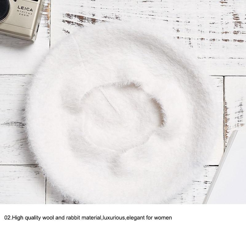 winter hat beret for women