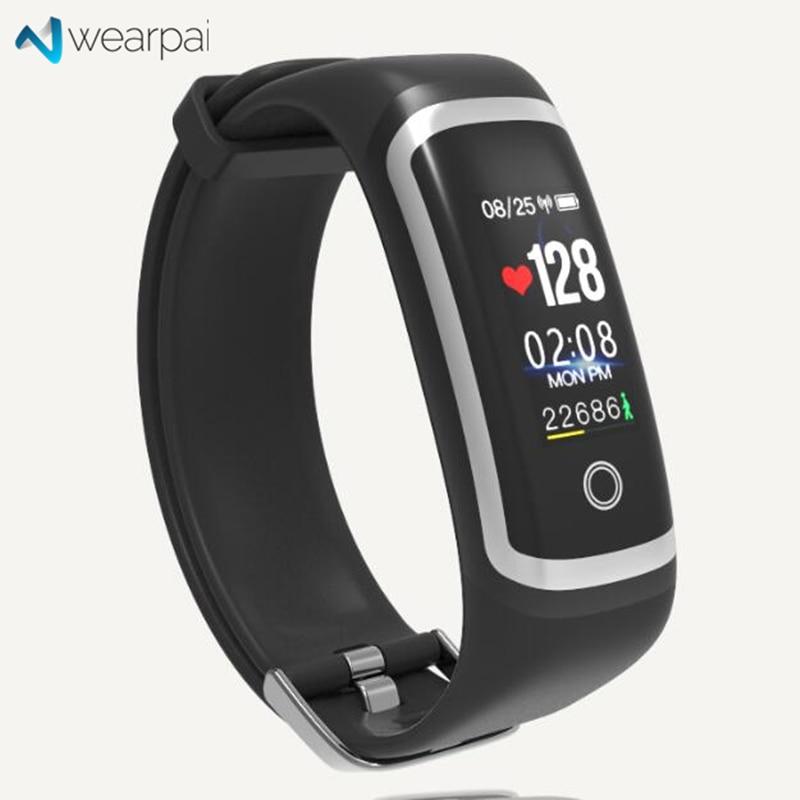 Wearpai M4 corazón inteligente banda de pantalla a Color de sangre presión pasómetro mensaje/llamada de recordatorio de los deportes de moda pulsera inteligente IP67