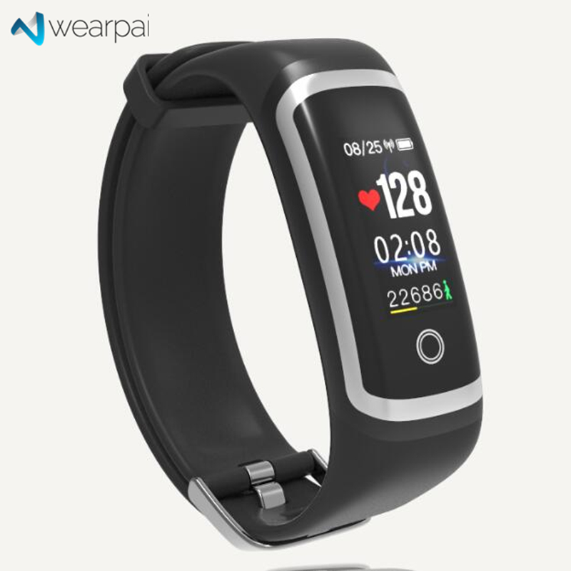 bd8cfbed3f4 Wearpai M4 smart Heart rate band Color screen blood pressure passometer  message