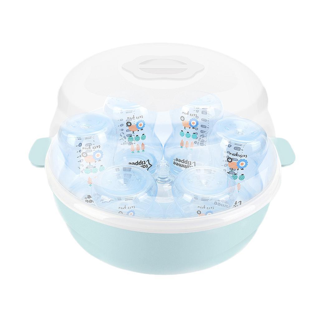 Baby Microwave Oven Bottle Sterilization Box High Temperature Pacifier Sterilizer Bottle Holder Storage Box Sterilizerl Set