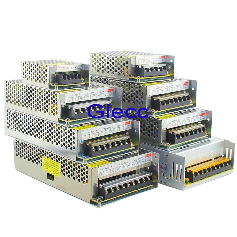 Адаптер питания для светодиодной ленты, адаптер питания для 12 В постоянного тока, 1 А, 2 А, 3 А, 5 А, 10 А, 15 А, 20 А, 30 А, 40 А, 50 А, трансформатор