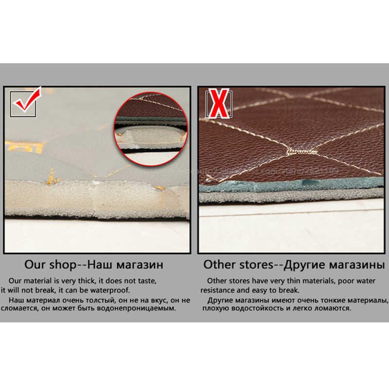 Flash in pelle mat tappetini auto per Suzuki Jimny Grand Vitara Kizashi Swift SX4 Wagon R Tavolozze Stingray auto- styling Personalizzato stuoia