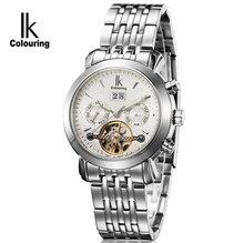 Hombres Mecánicos Automáticos Diver Reloj de Zafiro de Lujo Multifuncional Tourbillon Calendario Correa de Acero Auto-Viento relojes de Pulsera