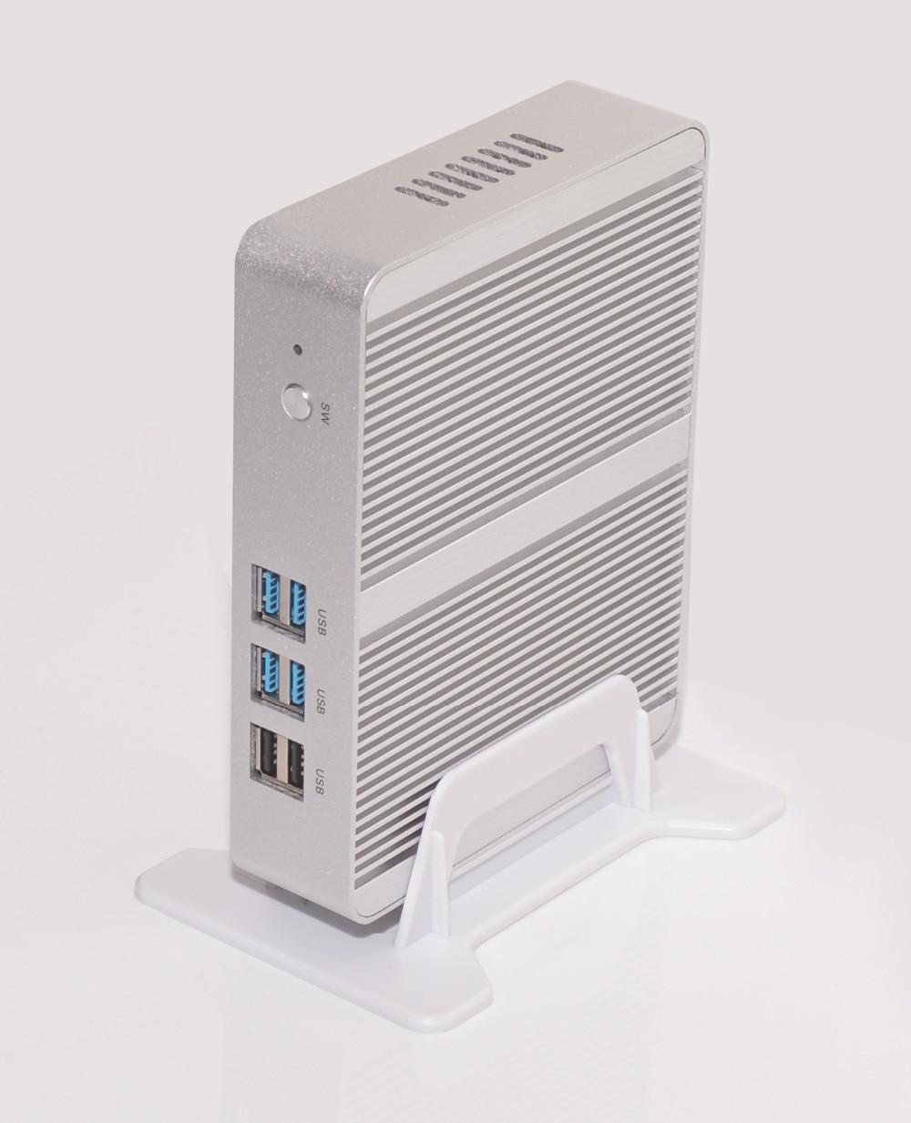 Promotion Cheap Fanless Core I3 Mini PC M325/M330  Core I3 4005U 5005U Dual Display,Low Power Silver Small Computer