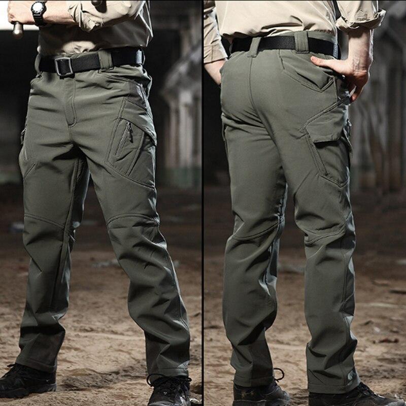 Mens Tactical Camo Long Pants Climbing Combat Work Walking Waterproof Trousers