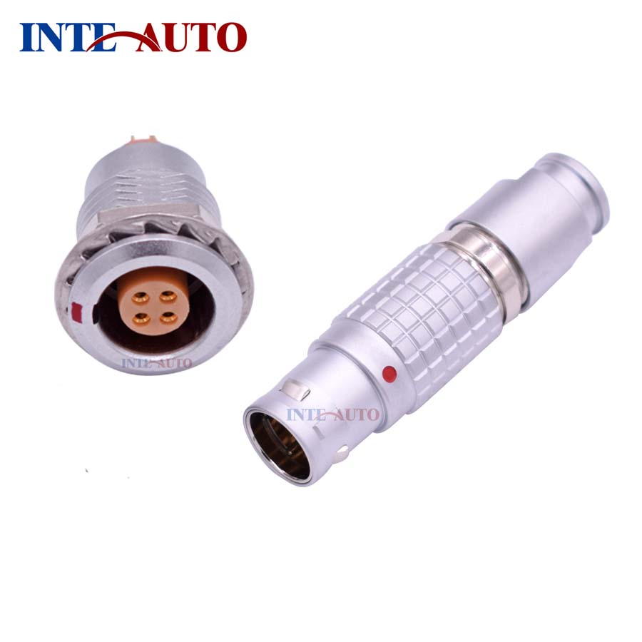 Lemo similar 4 pins multipole connector,Metal push pull electrical Plug receptacle socket,compatblie FGG.2B.304 EGG.2B.304 replace lemos m12 electrical push pull round connector m12 size brass body 8 solder contacts fgg 1b 308 phg 1b 308