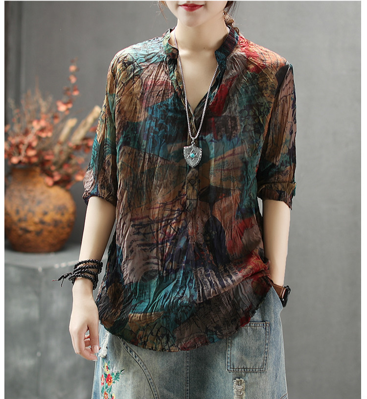 V Neck Chiffon Clothes 13