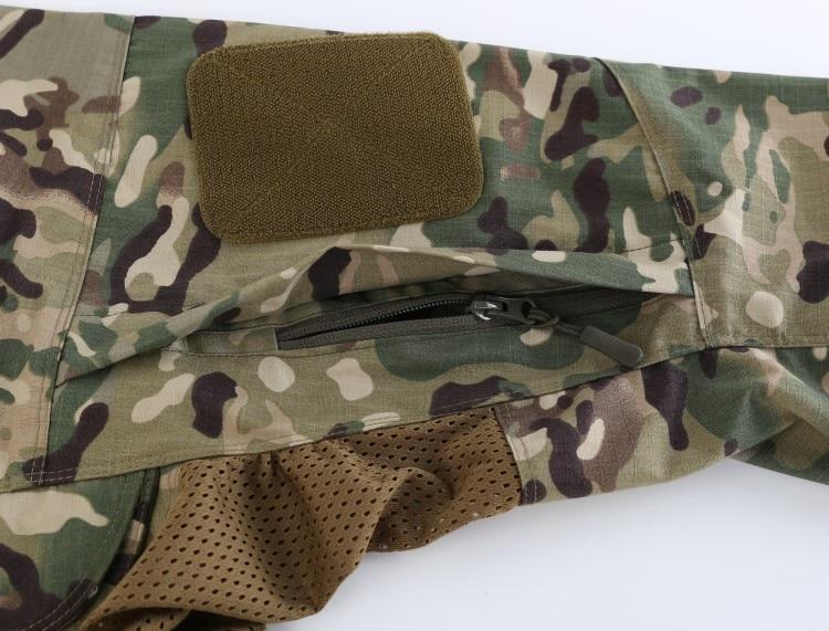 Полевая Боевая тренировочная тактическая рубашка Мужская Уличная походная клетчатая ткань износостойкая камуфляжная дышащая Военная Рубашка