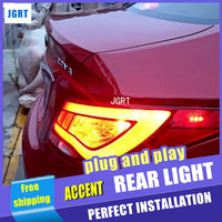 A T Car Styling For Hyundai Accent LED Taillights 2011 2013 Solaris Tail Light Verna Rear
