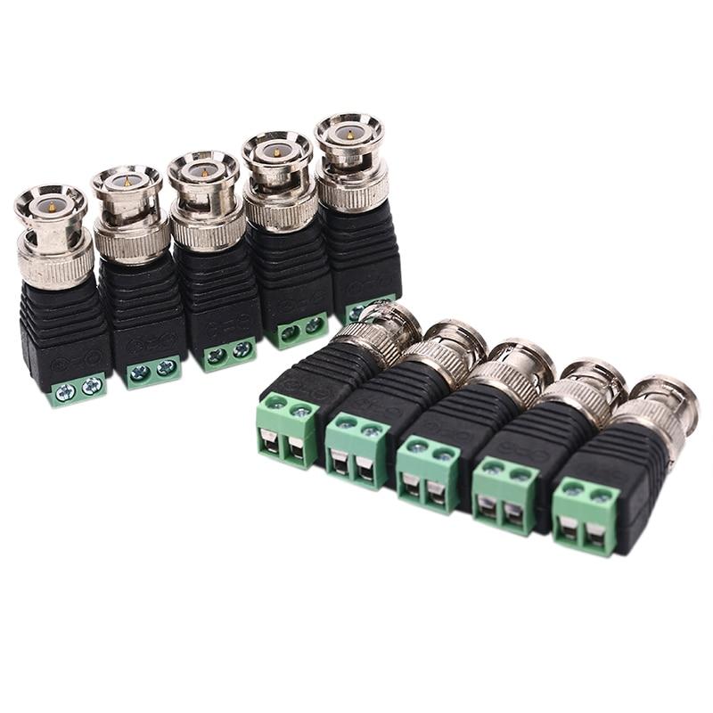 10 Stücke Mini Coax Cat5 Zu Kamera Cctv Bnc Video Stecker Adapter Für Poe Cctv Tester Ip Kamera Fc Sicherheit Terminal Block Starker Widerstand Gegen Hitze Und Starkes Tragen