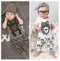 Fashion Autumn Long Sleeve Cotton Infant Monster Pattern Clothing Set  Baby Boy Clothes Newborn Bebes Suit Free Shipping!