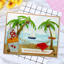 Coconut tree Carbon steel Cutting Dies Stencil Craft for DIY Creative Scrapbook Cut Stamps Dies Embossing Paper Hand Craft hand bag carbon steel cutting dies stencil craft for diy creative scrapbook cut stamps dies embossing paper hand craft