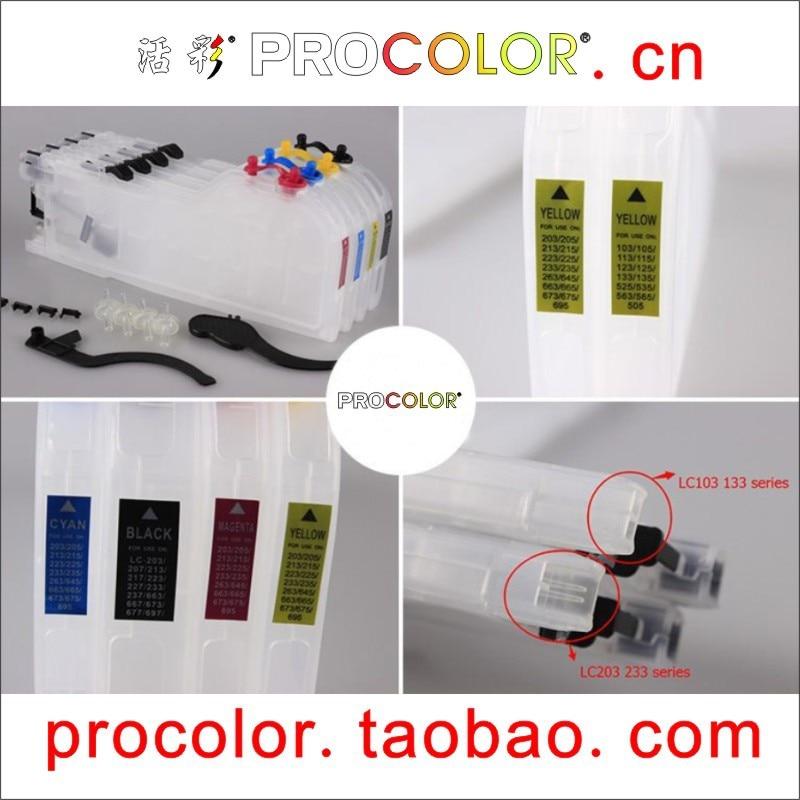 Newest long refill ink cartridge LC205C XXL/LC205M XXL/LC205Y XXL/LC209BK XXL for BROTHER MFC-J5520DW, MFC-J5620DW, MFC-J5720DW