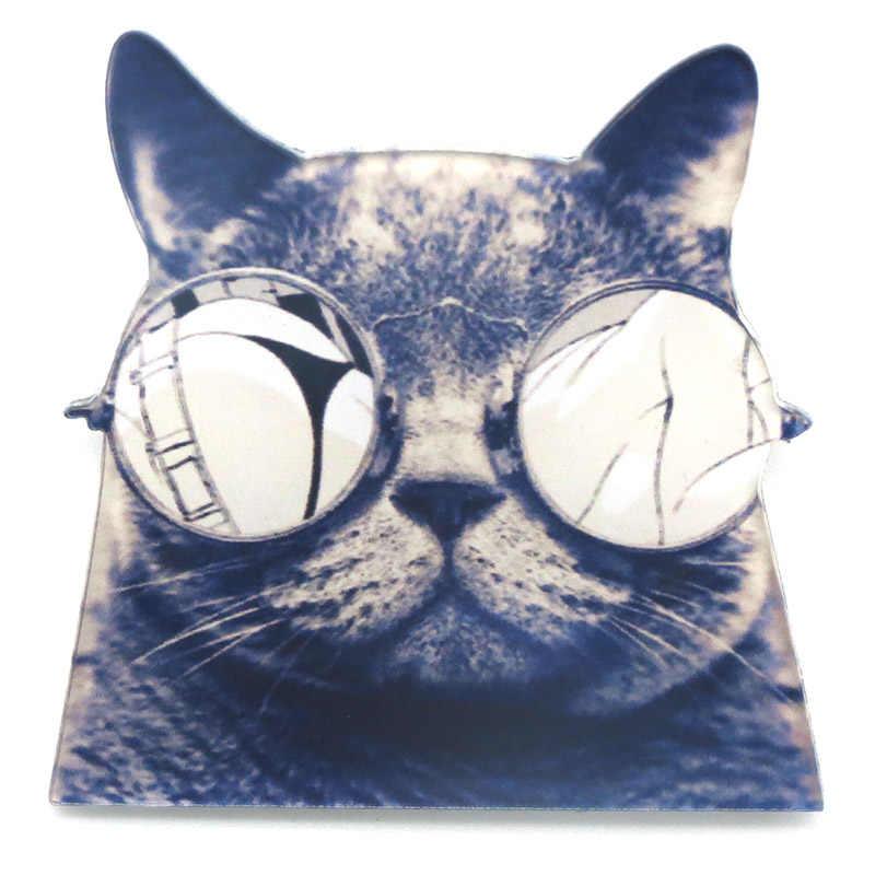 ใหม่เสื้อน่ารักฮาราจูกุคริลิคเข็มกลัดตราการ์ตูนตกแต่งขาปกไอคอนแมวรูปซิมป์สันแบทแมนเข็มกลัดB Roche BR0001