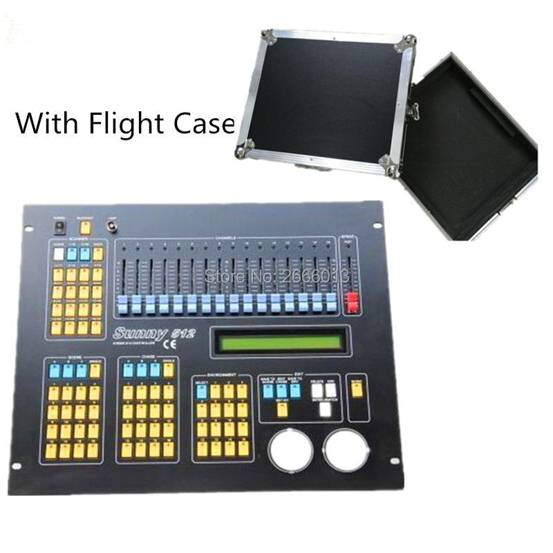 With Flight case DMX console sunny 512 dmx lighting control console for LED stage effect light PAR Moving Head DMX controller
