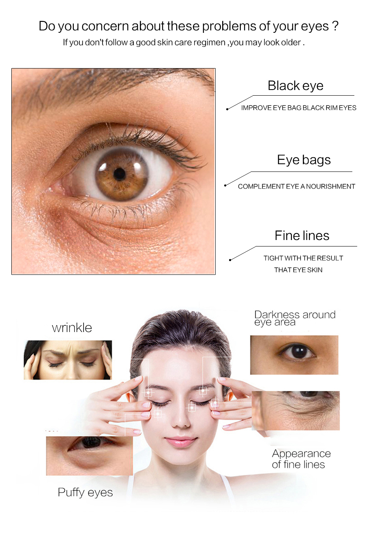 قناع العين60 قطعة أقنعة مزيل الدوائر الداكنة و التجاعيد مكافحة السن 2