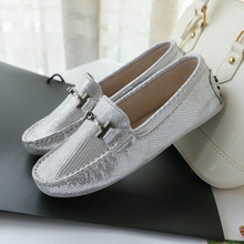 Women's genuine leather loafers 2017 designer shoes for Women breathable moccasins slip on driving shoe casual fashion footwear