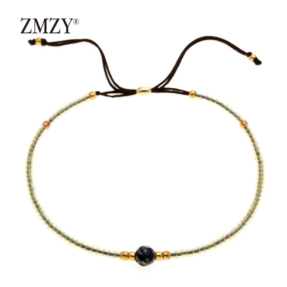 ZMZY Miyuki Delica, бисер, женские браслеты, ювелирные изделия дружбы, модные, сделай сам, Bijoux Femme, простые браслеты, Прямая поставка - Окраска металла: QSSL003-2