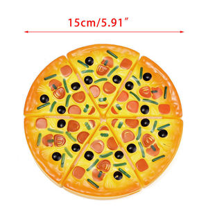 2017 Brand New 6PCS Childrens Kids Pizza Slices Toppings Pretend Dinner Kitchen Play Food Toys Kids Gift(China)