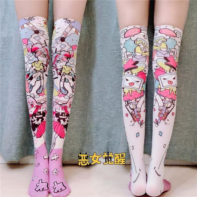 New Socks Fashion Stockings Casual Polyester Thigh High Over Knee High Socks Girls Womens Female Long Knee Sock 2019 5S-SW08 1
