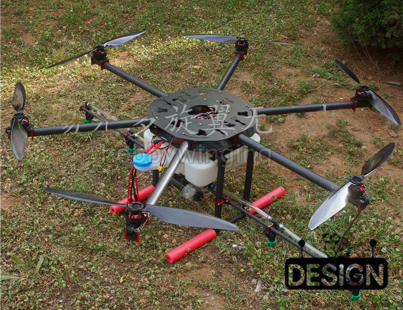 6-axis Spray pump Agriculture drone w/ 10KG/10L spraying gimbal system carbon 30MM tube 1260mm Wheelbase Folding UAV Hexacopter