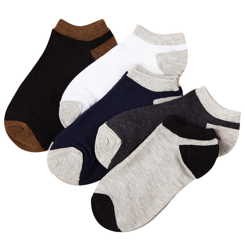 5 Pairs/lot Mens Socks Solid Color Vitage Breathable Male Ankle Sock All Match Patchwork Color Fashion Excellent Quality Meias