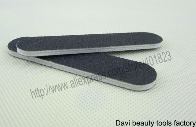 black mini nail file 100/180 emery board 100pcs/lot emery file nail art FREE SHIPPING #SC0311-02