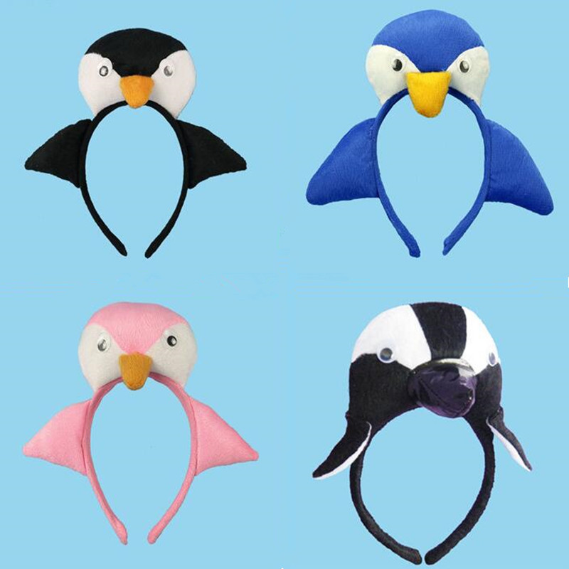 Animal Penguin Headband Kids Adults Boy Girl Cosplay Headwear  Birthday Party Hair Accessories  Halloween Christmas