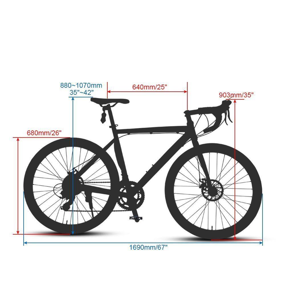Cyrusher Rennrad 700C * 52 cm Aluminium rahmen Reisen Radfahren 14 ...
