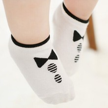 Hot Sale Kids Baby Boy Girl Cotton Knitted Anti Slip Short Breathable Socks 0-2Y