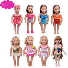 New swimsuit suit 8 different styles fit 18 inch Girl dolls and 43 cm baby clothing accessories c380