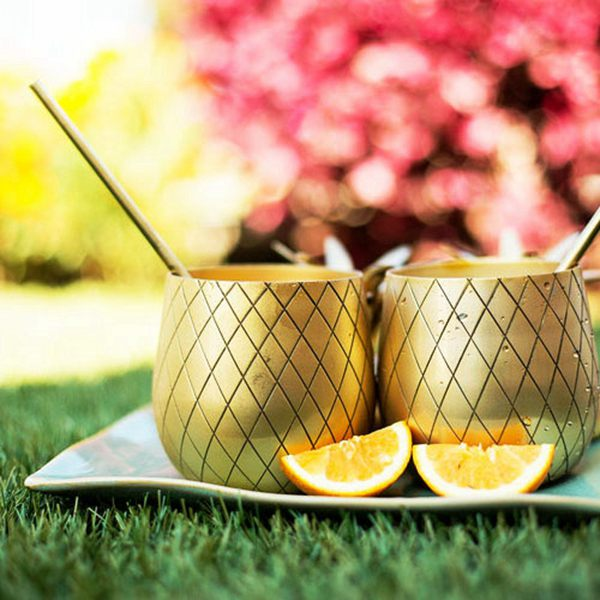 The Royal Hawaiian Gold Pineapple Tumbler Beer Cup-in Mugs from Home ...