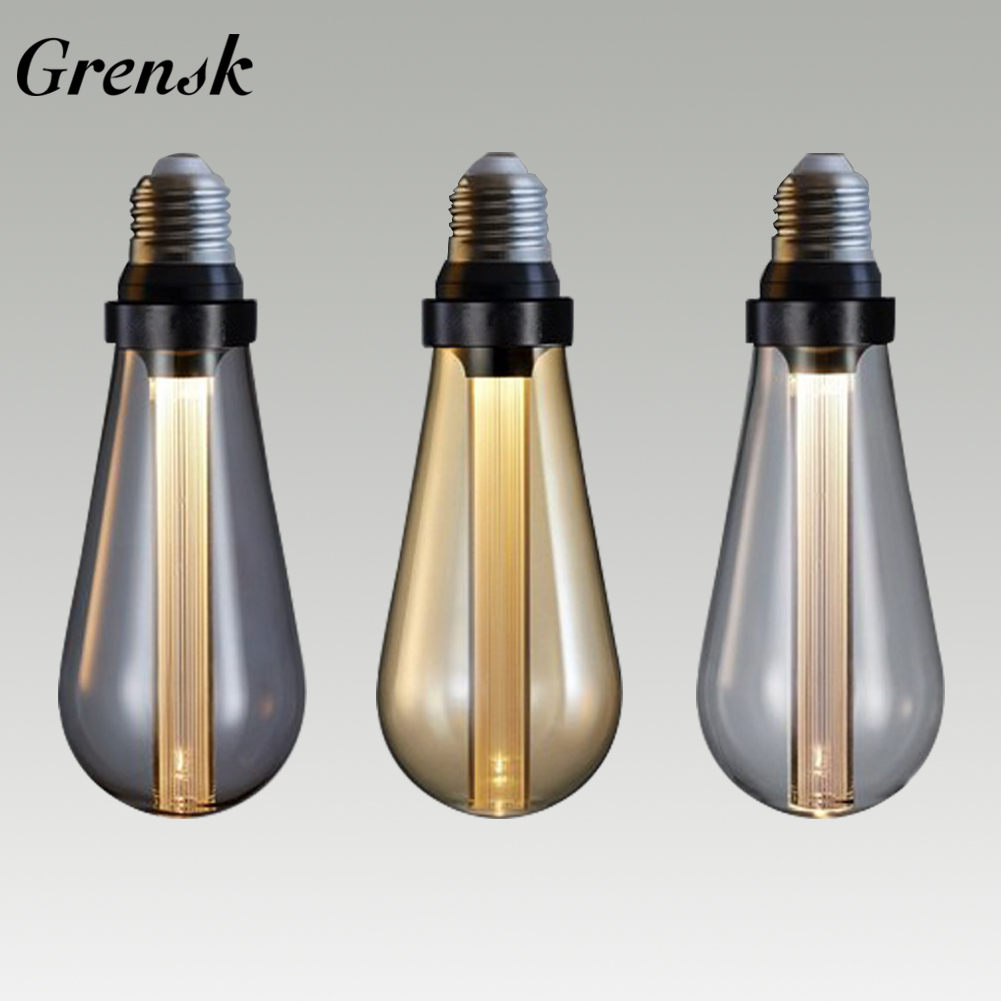 Ampoule Led E27 Edison Bulb Light Guide Vintage Lamp ST64 Retro Nostalgic Creative 3W 85V-264V Warm Smoke Gray LED Buster Bulbs