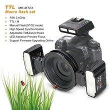 Meike MK MT24 двухконфорочная Lite 5500 K вспышка для Nikon D3400 D5300 D7200 D750 D5600 D3200 D7100 D3300 D7200 как R1C1 DSRL Камера