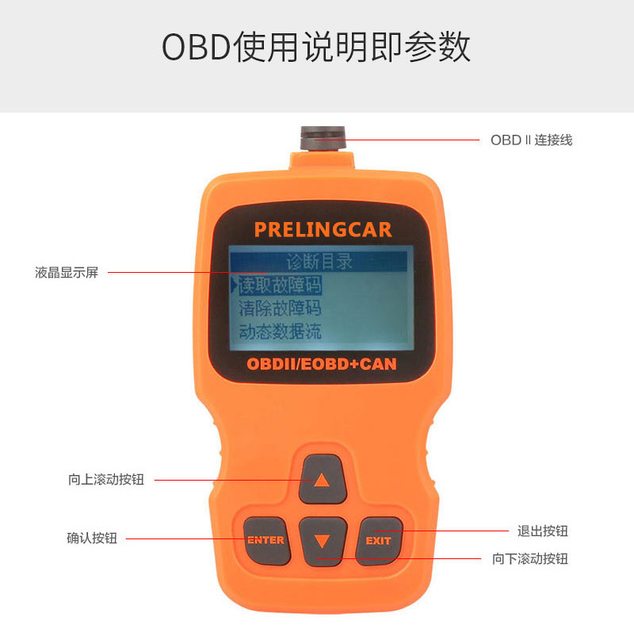 Big Sale automotive Diagnostic Tool OBDII OBD2 Scanner Mechanic autoscanner Auto Scanner for Car OBD 2 II Scaner