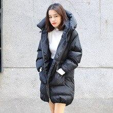 Зима Толстые Теплые Длинный С Капюшоном Ветровки Куртки для Женщин 2016 Корейский Стиль Femme Снег Анорак Вата Пальто Плюс Размер